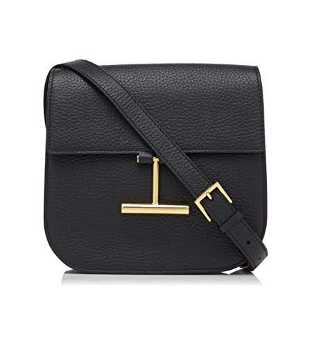 Tom Ford Black Grained Leather Mini Tara Shoulder Handbag Bag Crossbody