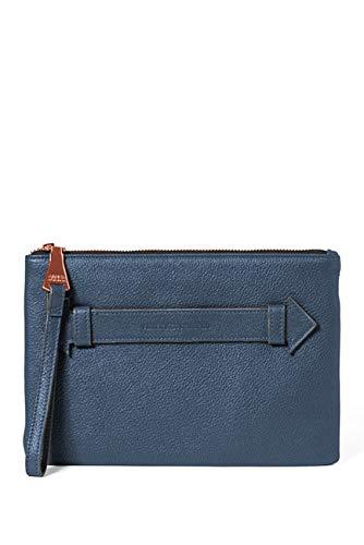 Aimee Kestenberg Melville Pouch Wristlet Marine Blue Leather