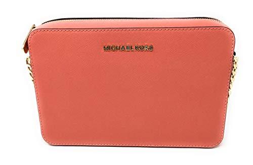 Michael Kors Jet Set LG East/West Saffiano Crossbody Pink Grapefruit