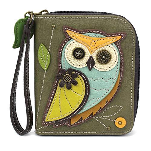 Chala Handbags Owl Generation A Zip-Around Wallet/Wristlet Owl Collectors Owl Lover