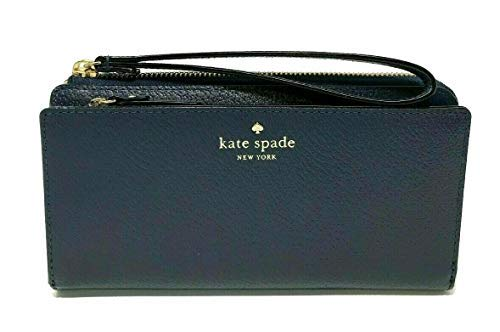 Kate Spade NY Grand Street Leather Layton Wallet Clutch – Navy