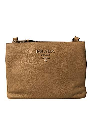 Prada Women's Beige Vitello Phenix Crossbody 1BH046