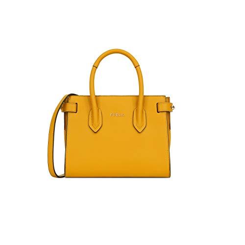 Furla Pin Ladies Mini Yellow Ginestra Leather Tote 978757