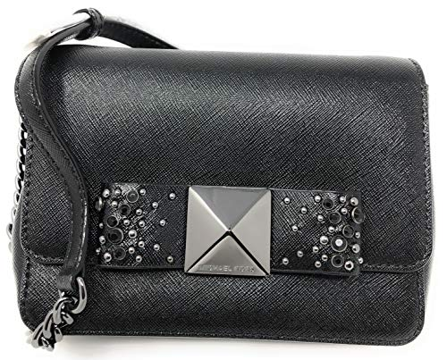 Michael Kors Tina Small Clutch with Bow Crossbody Bag – Black