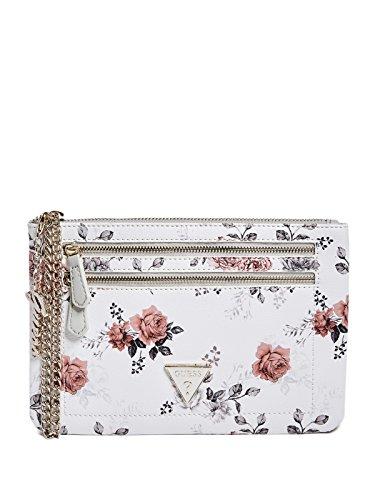 GUESS Women's Celesta Floral Wristlet Clutch Wallet Bag