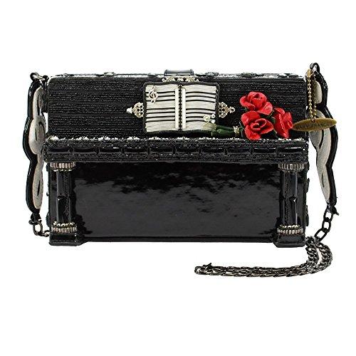 MARY FRANCES Done Upright Embellished Piano Shoulder Handbag