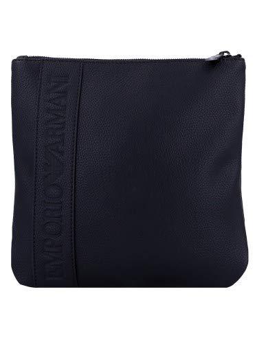 Armani Women's Emporio Logo Embossed Shoulder Bag One Size Black