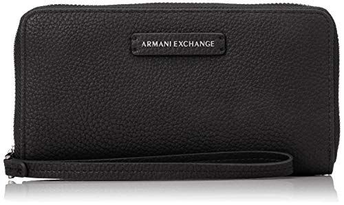 A|X Armani Exchange Women's Round Zip Wrislet, nero – black 79