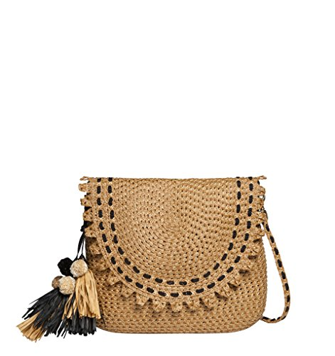 Eric Javits Luxury Fashion Designer Women's Handbag – Squishee Brigitte – Natural Black