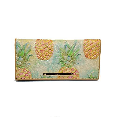 Brahmin Ady Slim Pineapple emb leather Clutch Multi Pompano