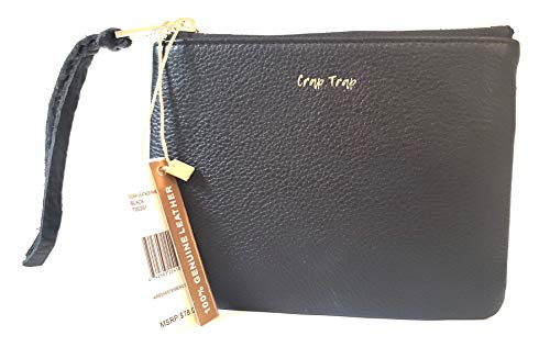 Aimee Kestenberg Dubai Leather Phrase Pouch Black