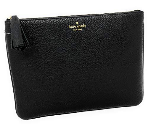 Kate Spade Grey Street Gia WLRU2342 Black Leather Clutch