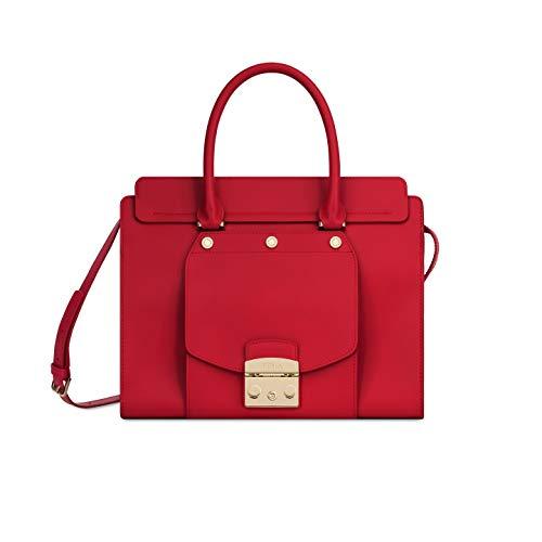 Furla Metropolis Magia Ladies Medium Red Ruby Leather Satchel 978003
