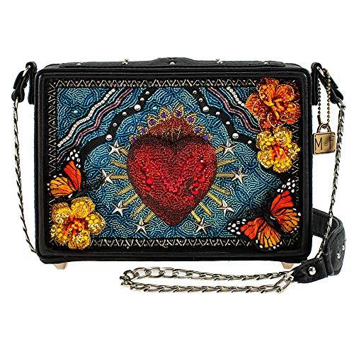 Mary Frances Day of the Dead, Beaded Crossbody Handbag