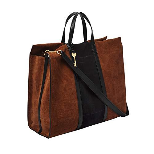 Fossil Women's Carmen Leather Tote Handbag, Multicolor