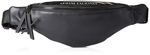 A|X Armani Exchange Sling Bag, black/white
