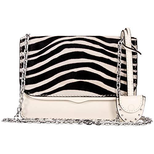 Rebecca Minkoff Zebra Print Ladies Small Antique White Leather Crossbody Bag HF17ECZX48-101