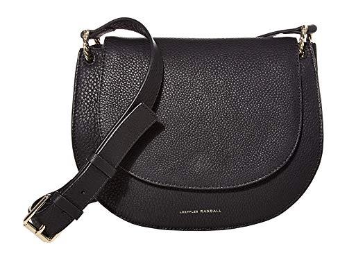 Loeffler Randall Cecil Leather Saddle Bag Black 2 One Size