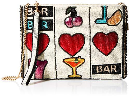 Mary Frances Take A Chance Beaded Slot Machine Gambling Themed Wristlet Crossbody Handbag, multi