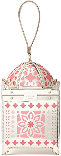 Kate Spade Rambling Roses Iridescent Moroccan Lantern Bag Wristlet Novelty Bag, Rose Gold