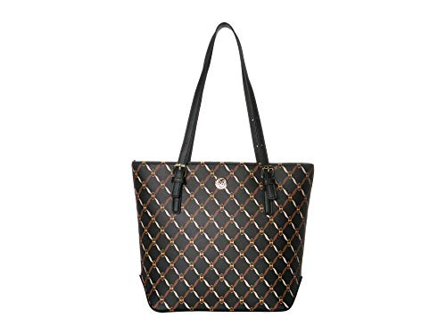 Anne Klein Lily Tote Printed Black/Multi One Size