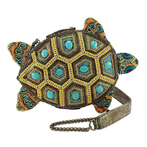 Mary Frances Turtle by The Sea Beaded Crossbody Novelty Handbag, Green