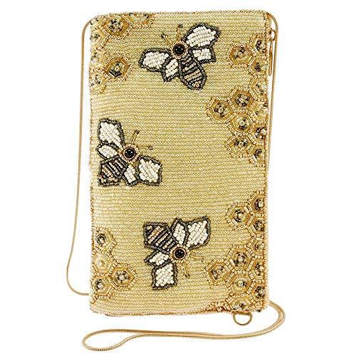 Mary Frances Oh Honey Beaded Crossbody Phone Bag