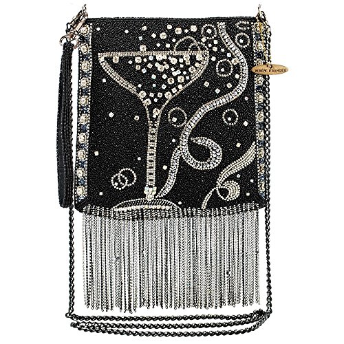 MARY FRANCES Touch of Bubbly Embellished Champagne Cross-Body Handbag