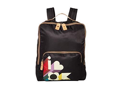 Orla Kiely I Love Ok Printed Nylon Medium Rucksack Black/Khaki One Size