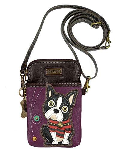 Chala Boston Terrier Cellphone Crossbody Handbag – Convertible Strap