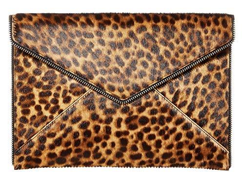Rebecca Minkoff Leo Clutch Leopard One Size