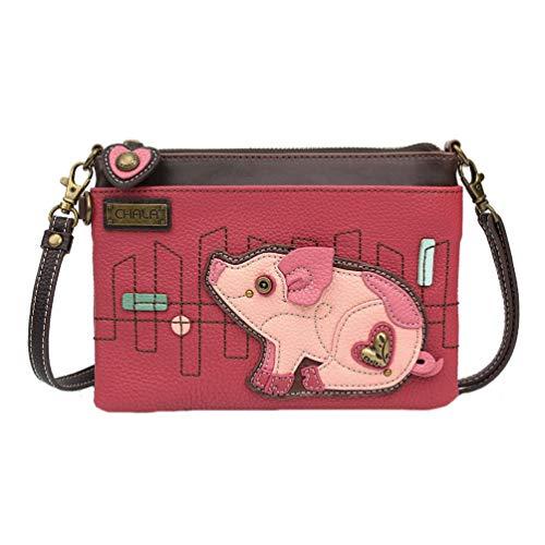 Chala Pig Mini Crossbody Handbag, Pig Lovers Gift Pig Accessories