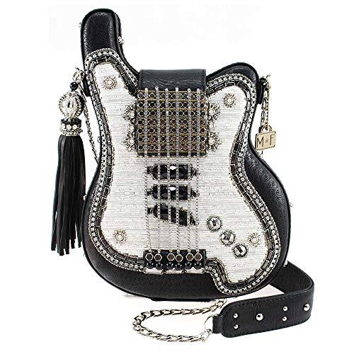 MARY FRANCES Greatest Hits Embellished Electric Guitar Crossbody Handbag