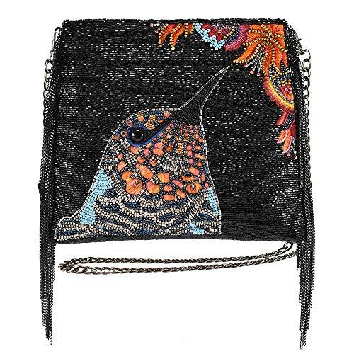 Mary Frances Nectar Beaded Hummingbird Crossbody Handbag