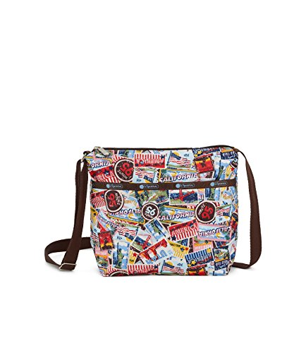 LeSportsac Classic Small Cleo Crossbody Bag, Exclusive American Stamp Print