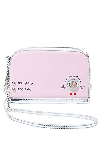 Betsey Johnson Kitsch A Toast To You Crossbody Bag in Pink