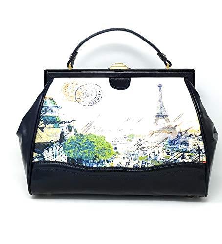 Patricia Nash Discovery Collection Brianza Paris Top Handle Satchel Bag