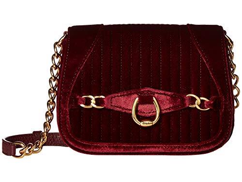 LAUREN Ralph Lauren Stonegate Crossbody (Merlot) Cross Body Handbags