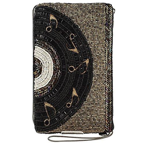 Mary Frances Beaded Crossbody Phone Bag (Off the Record)
