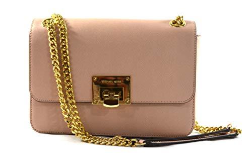 Michael Kors Pink TINA Leather Shoulder Bag