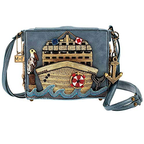 Mary Frances All Aboard Embellished Cruise Ship Crossbody Handbag