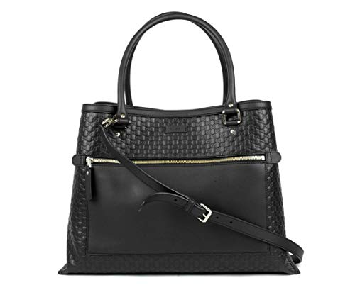 Gucci Women's Black Guccissima Leather Large Shoulder Bag 510290 1000