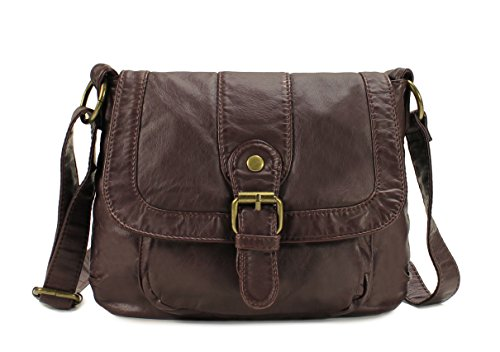 Scarleton Small Soft Washed Front Pocket Crossbody Bag H169221 – Coffee