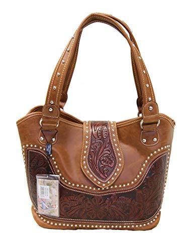 "Montana West ""Tooled Collection"" Concealed Handgun Handbag"