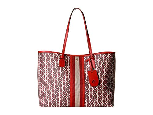 Tory Burch Gemini Link Small Canvas Tote in Liberty Red
