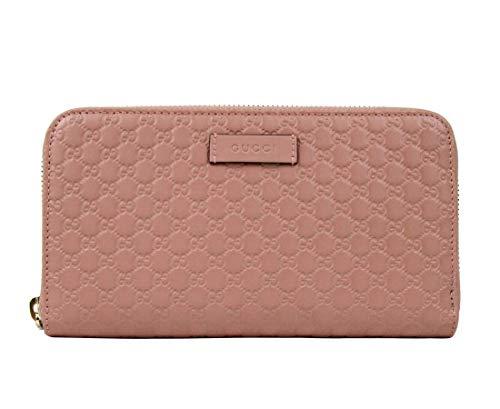 Gucci Women's Light Pink Leather Zip Around Wallet 449391 5806