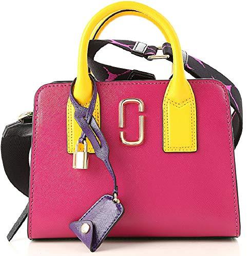 Marc Jacobs Little Big Shot Saffiano Leather Satchel Bag, Magenta Multi