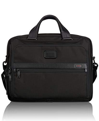 TUMI – Alpha 2 Organizer Laptop Brief Briefcase – 15 Inch Computer Bag for Men and Women – Black