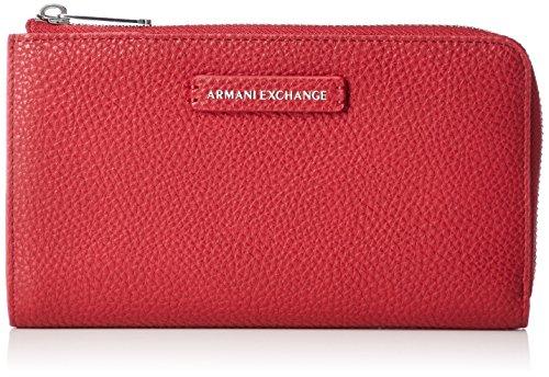 A|X Armani Exchange Round Zip Wallet, red