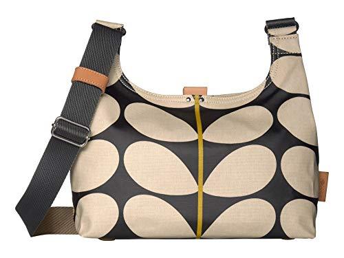Orla Kiely Solid Stem Print Mini Sling Bag Black One Size
